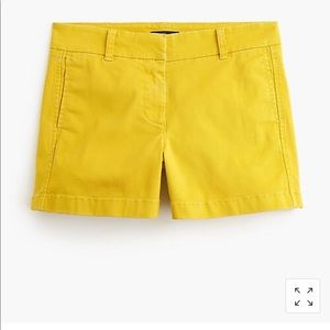 "J crew mustard yellow 4"" inch chino shorts 4"